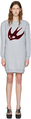 McQ Alexander McQueen Grey Varsity Swallow Dress $380 thestylecure.com
