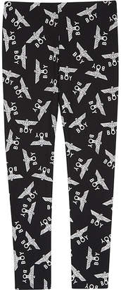 Boy London Logo print cotton leggings 3-12 years