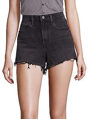 Alexander Wang Women's Bite Hi-Rise Frayed Denim Shorts