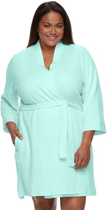 Croft & Barrow Plus Size Waffle-Knit Kimono Robe
