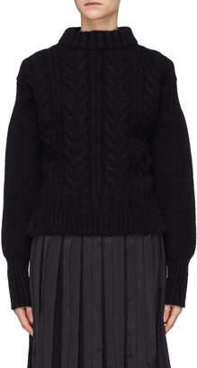 Cecilie Bahnsen 'Sol' tie open back cable knit sweater