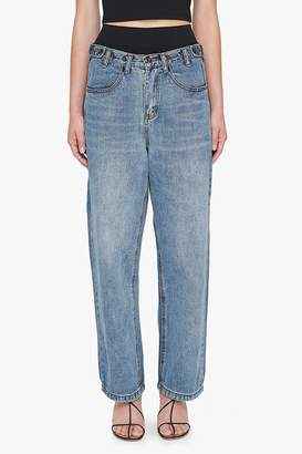 Genuine People Low Rise Relaxed Button Jeans