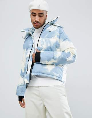 Lacoste Live L!VE clouded puffer jacket in blue