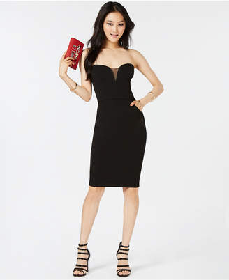 B. Darlin Juniors' Strapless Bodycon Dress