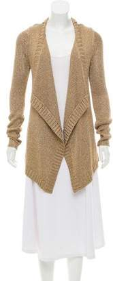 Ramy Brook Metallic Long Sleeve Cardigan
