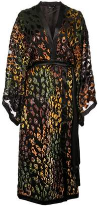 Saloni leopard print robe dress