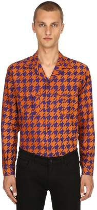 Etro Houndstooth Cotton Jacquard Pajama Shirt