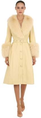 Saks Potts Foxy Leather Coat W/ Fox Fur