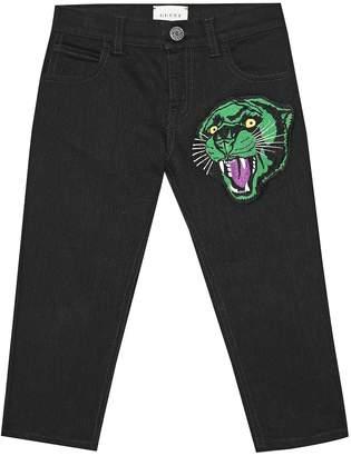 Gucci Kids Appliqued jeans