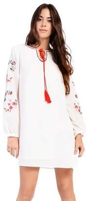 Amalie & Amber - White Smock Dress