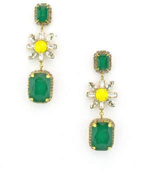 Elizabeth Cole Graham Dangle Earrings