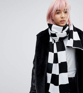 E.l.k Knitted Checkerboard Scarf