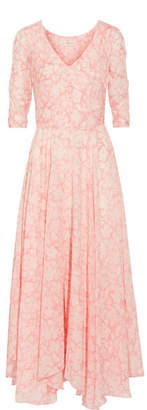 LoveShackFancy - Larissa Floral-print Cotton And Silk-blend Maxi Dress - Baby pink $445 thestylecure.com