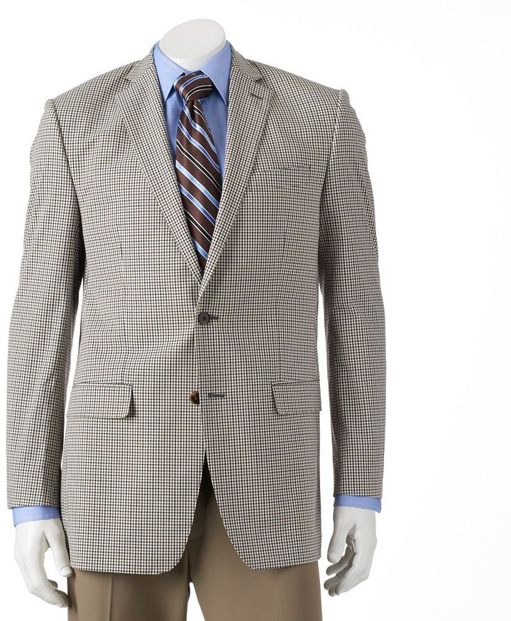 Men 39 S Van Heusen Studio Modern Fit Checked Sport Coat Sold