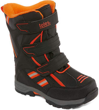 totes Boys Nate Insulated Strap Snow Boots