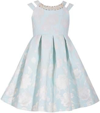d6828fcafe1 Bonnie Jean Girls 7-16 Pleated Floral Brocade Dress