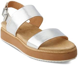 Whistles Firth Metallic Platform Sandals $310 thestylecure.com