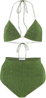Oseree Lumière Stretch-Lurex Bikini Size: S