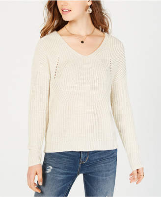 American Rag Juniors' Lace-Up Sweater
