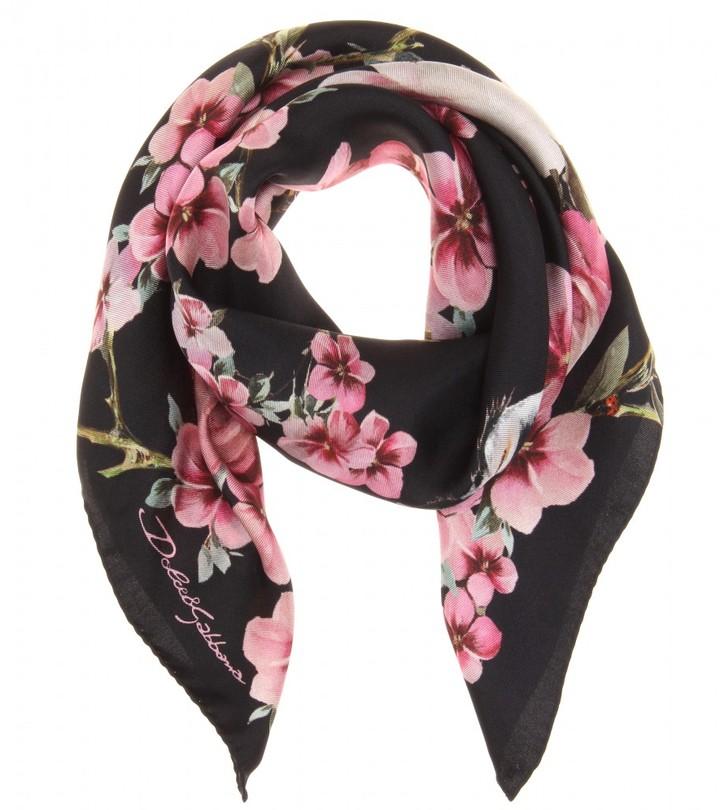 Dolce & Gabbana Floral print silk scarf