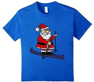 SmileteesXMAS Funny Santa Claus Skiing Christmas T-shirt