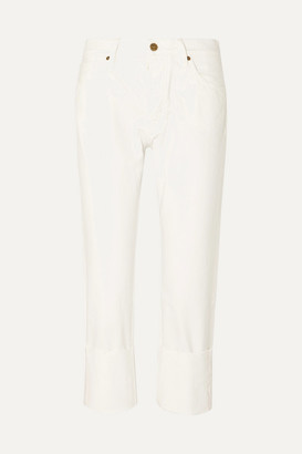 MiH Jeans Phoebe Cropped Straight-leg Jeans - White