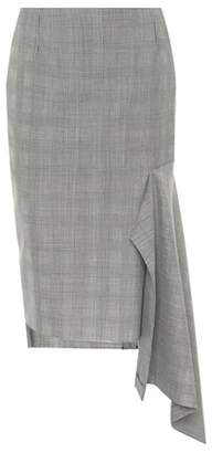 Balenciaga Plaid virgin wool skirt