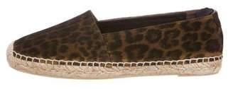 Saint Laurent Leopard Espadrille Slip-On Sneakers