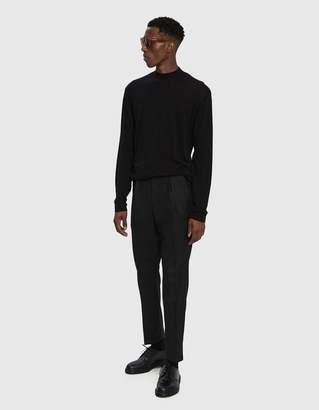 Saturdays NYC Sean Crepe Mock Neck Sweater