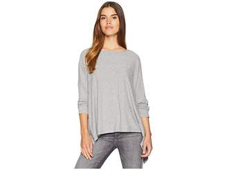 1 STATE 1.STATE Long Sleeve Variegated Rib Knot Back Top