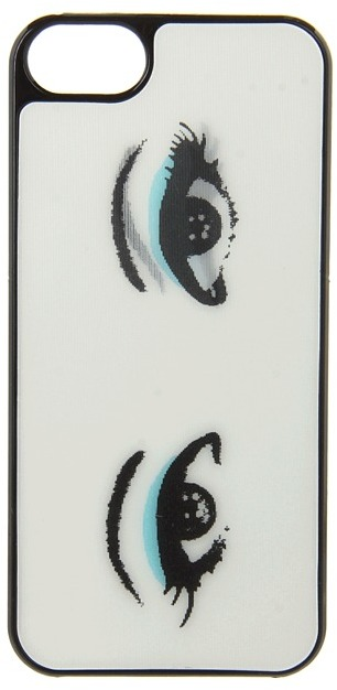 Kate Spade Lenticular Eyes Blue Eye Shadow Resin iPhone 5 and 5s Case Cell Phone Case