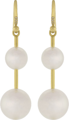 Irene Neuwirth JEWELRY Akoya Pearl And Diamond Drop Earrings