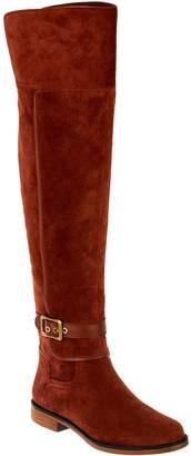 432860f4b75c Franco Sarto Medium Calf Suede Over-the-Knee Boots - Crimson