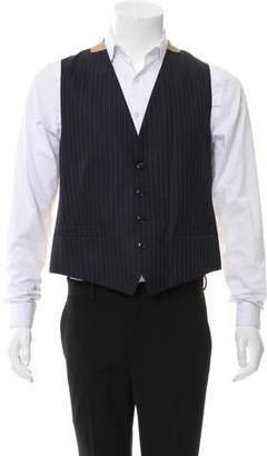 Dries Van Noten Striped Wool Suit Vest