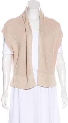 Magaschoni Sleeveless Rib-Knit Cardigan