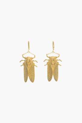 Gold Bug Collection Large Drop Earrings