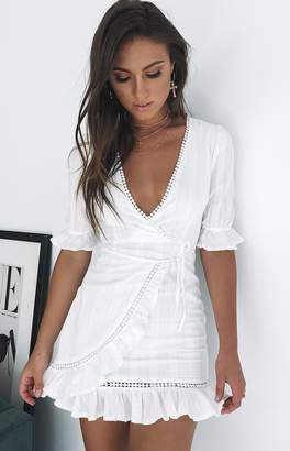 Beginning Boutique Tahitian Sunrise Dress White