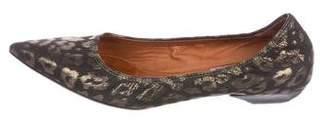 Lanvin Brocade Pointed-Toe Pumps