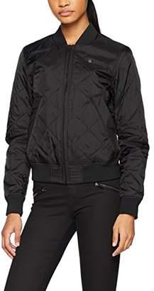 G Star Women's Deline Qlt Padded Slim Bomber Wmn Jacket, (Black 990), X-Small
