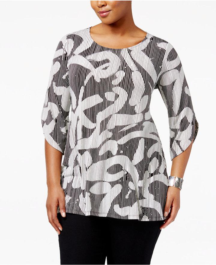 AlfaniAlfani Plus Size Printed Tunic, Only at Macy's