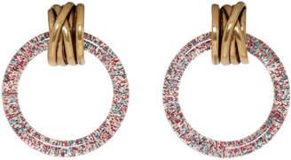 Balenciaga Pink and Gold XS Hoop Earrings