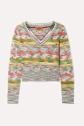 Missoni Cropped Wool-blend Sweater - Gray
