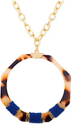 Catherine Malandrino Octagon Tortise Acrylic Necklace