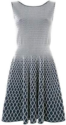 Valenti Antonino two-tone fitted dress