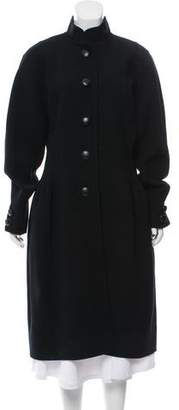 Oscar de la Renta Long Sleeve Wool Coat