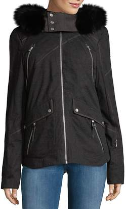 Spyder Women's Coyote Fur-Trimmed Hooded Jacket
