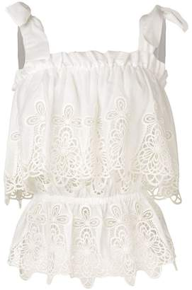 Dolce & Gabbana intaglio embroidered top