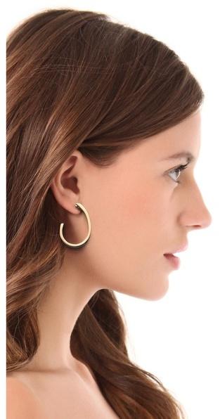 Adia Kibur Enamel Hoop Earrings