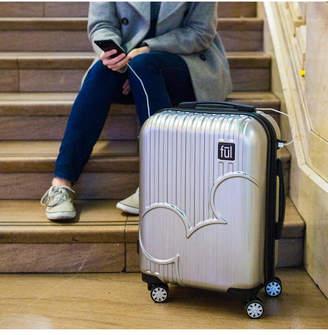 "Fu Disney Molded Mickey Icon 21"" Hardside Spinner Suitcase"