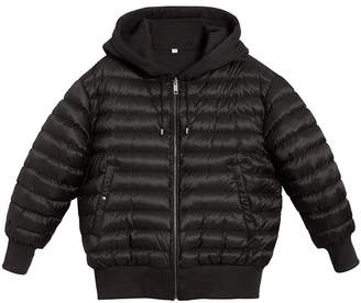 Burberry Reversible Down-filled Hooded Bomber Jacket